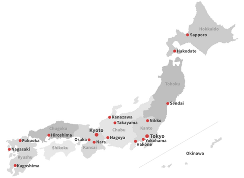 Japan-guide.com map of japan