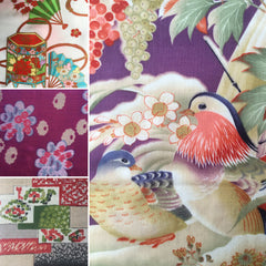 Collections of vintage fabrics by yard,piece,lot