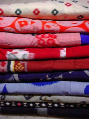 110-MSN, 10 pounds 1950s meisen silk vintage Japanese kimonos by pound