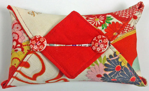 tissue holder made from vintage chirimen silk from YokoDana Kimono