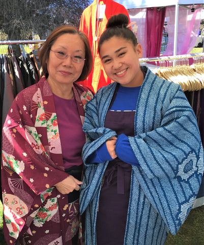 Yoko Lewis, owner of YokoDana Kimono, with her granddaughter at Philadelphia Matsuri2017