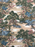 5503 1960s kimono silk, country home, trees, closeup102