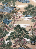 5503 1960s kimono silk, country home, trees, closeup103