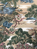 5503 1960s kimono silk, country home, trees, closeup106