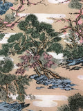 5503 1960s kimono silk, country home, trees, closeup107