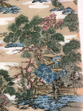 5503 1960s kimono silk, country home, trees, closeup108