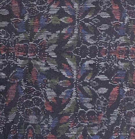 5768: 1980's Japan tsumugi silk, extreme close-up