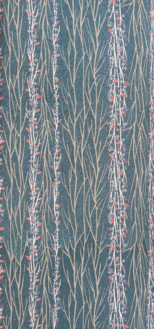 5687 one yard view, silk blend 1960s kimono fabric