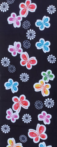 5714 deadstock kimono cotton fabric, 1 yard view