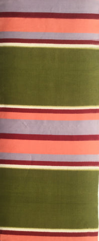 5778 1950's meisen silk, stripes,  1yard view