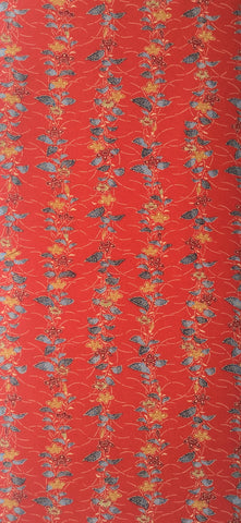 5870: Vintage Japanese Kimono Mock-Silk Fabric, full yard view