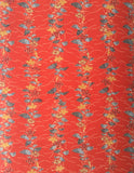 5870: Vintage Japanese Kimono Mock-Silk Fabric, close 1