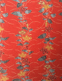 5870: Vintage Japanese Kimono Mock-Silk Fabric, close 2