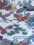 5910: 1950's Japanese Silk Kimono Fabric, 62 in Piece(Arai Hari)