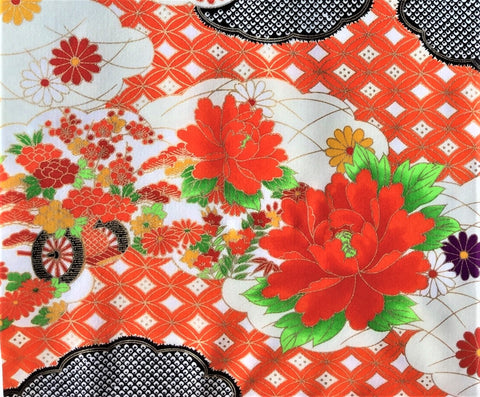 5960 Japanese furisode silk fabric, close3