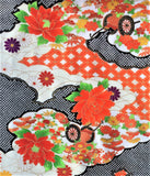 5960 Japanese furisode silk fabric, close5