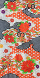 5960 Japanese furisode silk fabric, full view