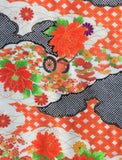 5960 Japanese furisode silk fabric, close1