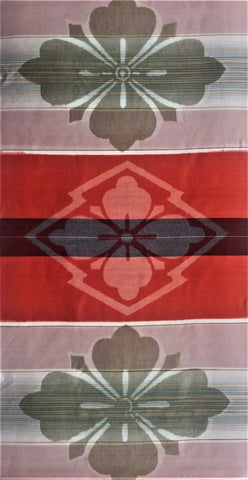 6108: 1950s Japanese silk, 3/4 length view