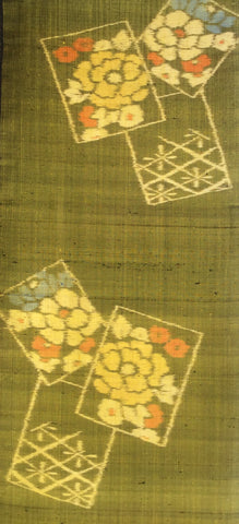 6145: 1950s Japanese Silk, close 1