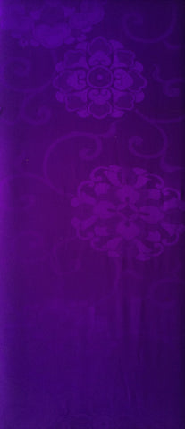 6425: 1950s nagajuban purple silk, long