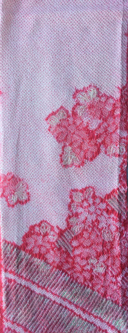 6486: 1960s Silk Shibori, long view 3/4