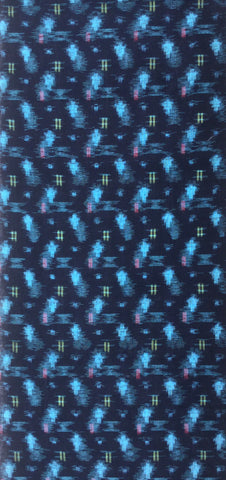 6517: 1930s Japanese Ikat, 3/4 long view