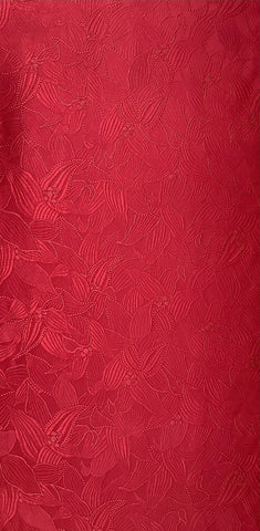 6566: 1980s Japanese Rusty-Red Silk, yard