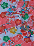 6582: 1960s Girls  Silk Fabric, close3