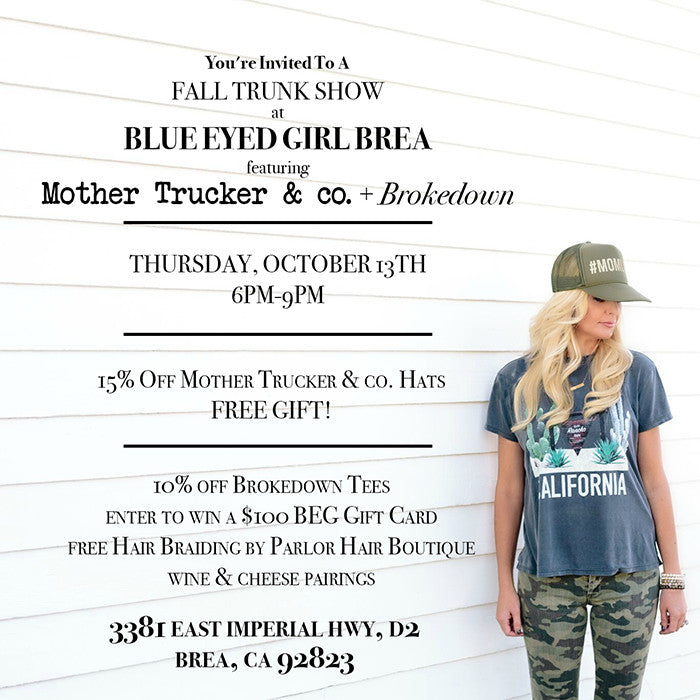 Come Shop at Our Fall Trunk Show!