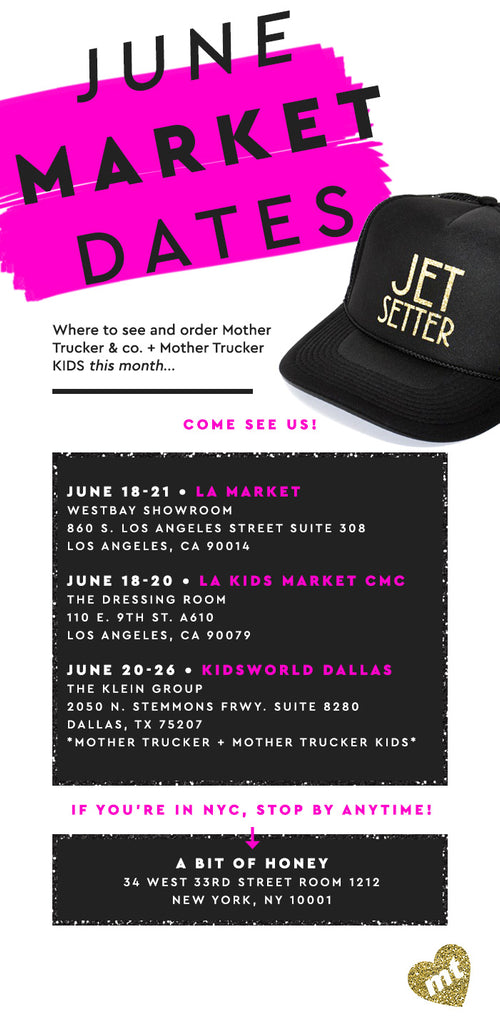 🛍June Wholesale Market Dates 🛍