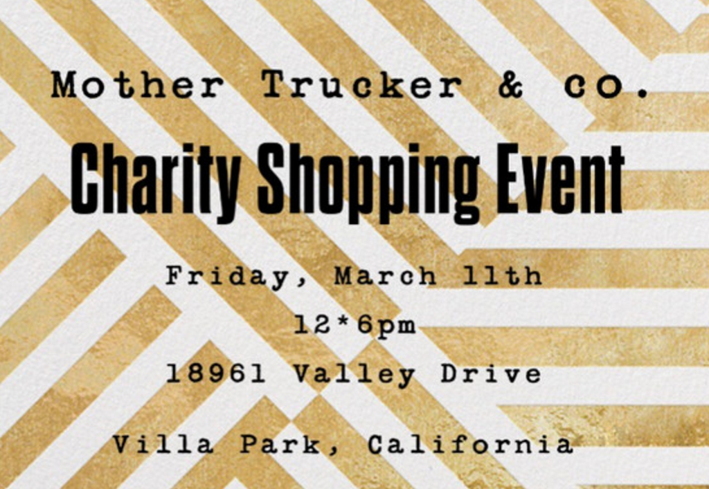 Charity Shopping Event!