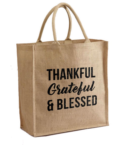 Thankful Grateful and Blessed Tote