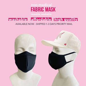 A pack of 5 face masks with filter (non-medical)