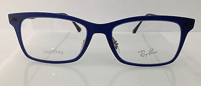 72aa01871a RAYBAN RB 7039 BLUE 5451 LIGHT RAY PLASTIC EYEGLASSES FRAME W NOSE PADS 53MM