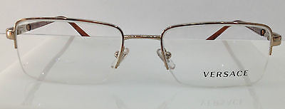 4264b7557c15 Versace Mod. 1066 Bronze 1053 Semi Rim Eyeglasses Frame 50-18-135 Authentic