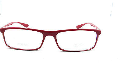 04c6c48fc9 ... RAYBAN RB7035 5435 SHINY RED LITEFORCE EYEGLASSES FRAME 54-17-145  AUTHENTIC RX ...
