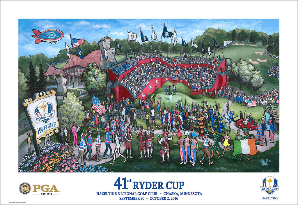 PGA to Use My Artwork for Official Licensed Merchandise for the 2016 Ryder Cup at Hazeltine