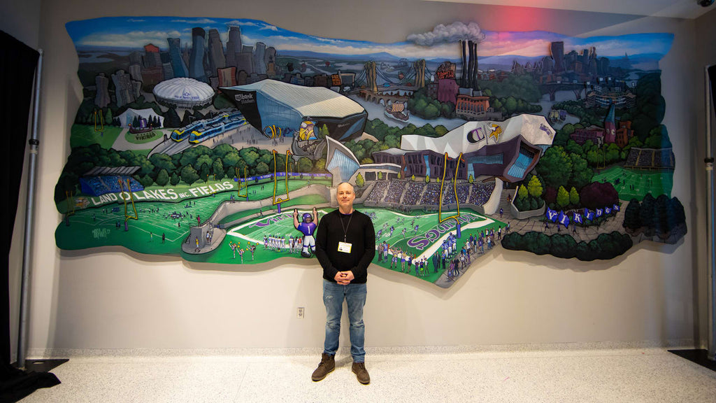 Michael Birawer's Minnesota Vikings Mural Revealed