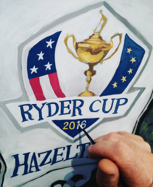 PGA 2016 Ryder Cup Painting
