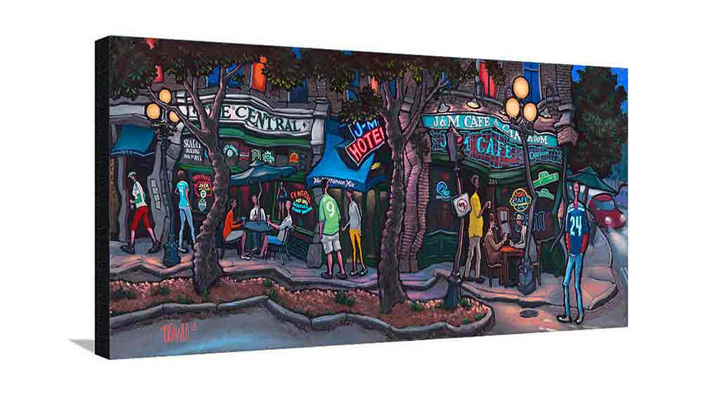 1st and Washington Large Canvas