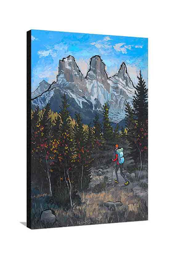 Three Sisters Canmore Large Canvas