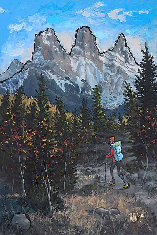 Three Sisters Canmore Original Painting
