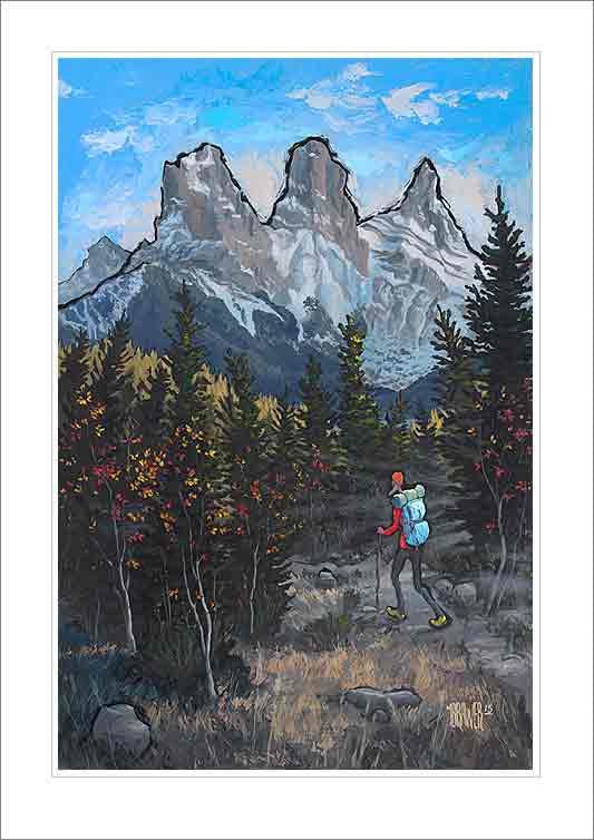 Three Sisters Canmore Small Canvas