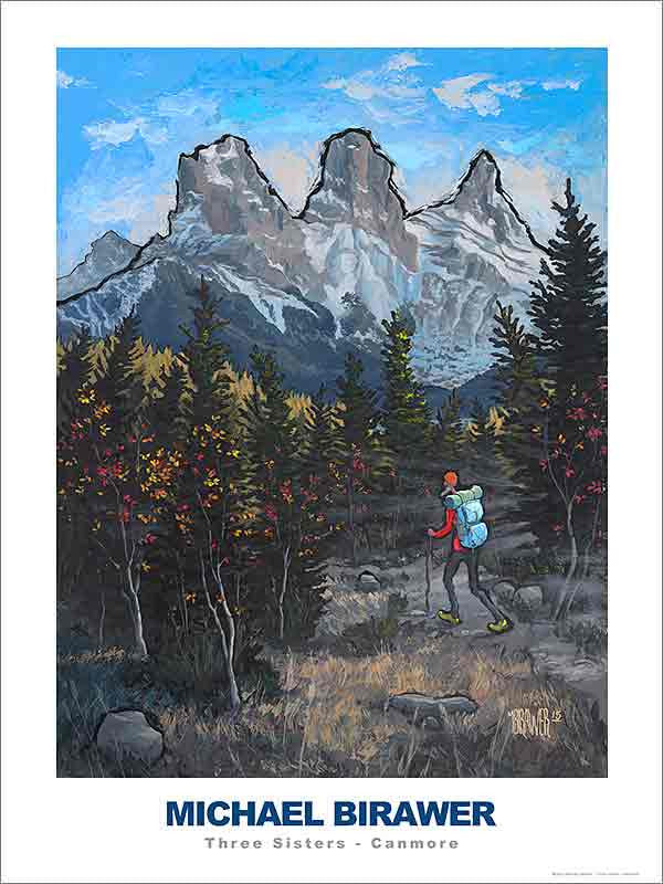 Three Sisters Canmore Poster