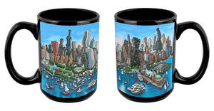 """Chicago Skyline"" Mug"