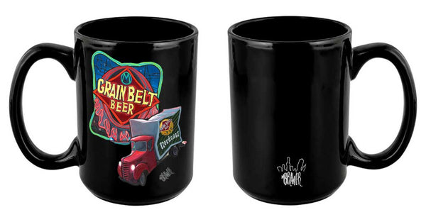 """Grain Belt Beer Sign"" Mug"