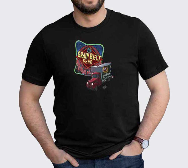 """Grain Belt Beer Sign"" Unisex T-Shirt"