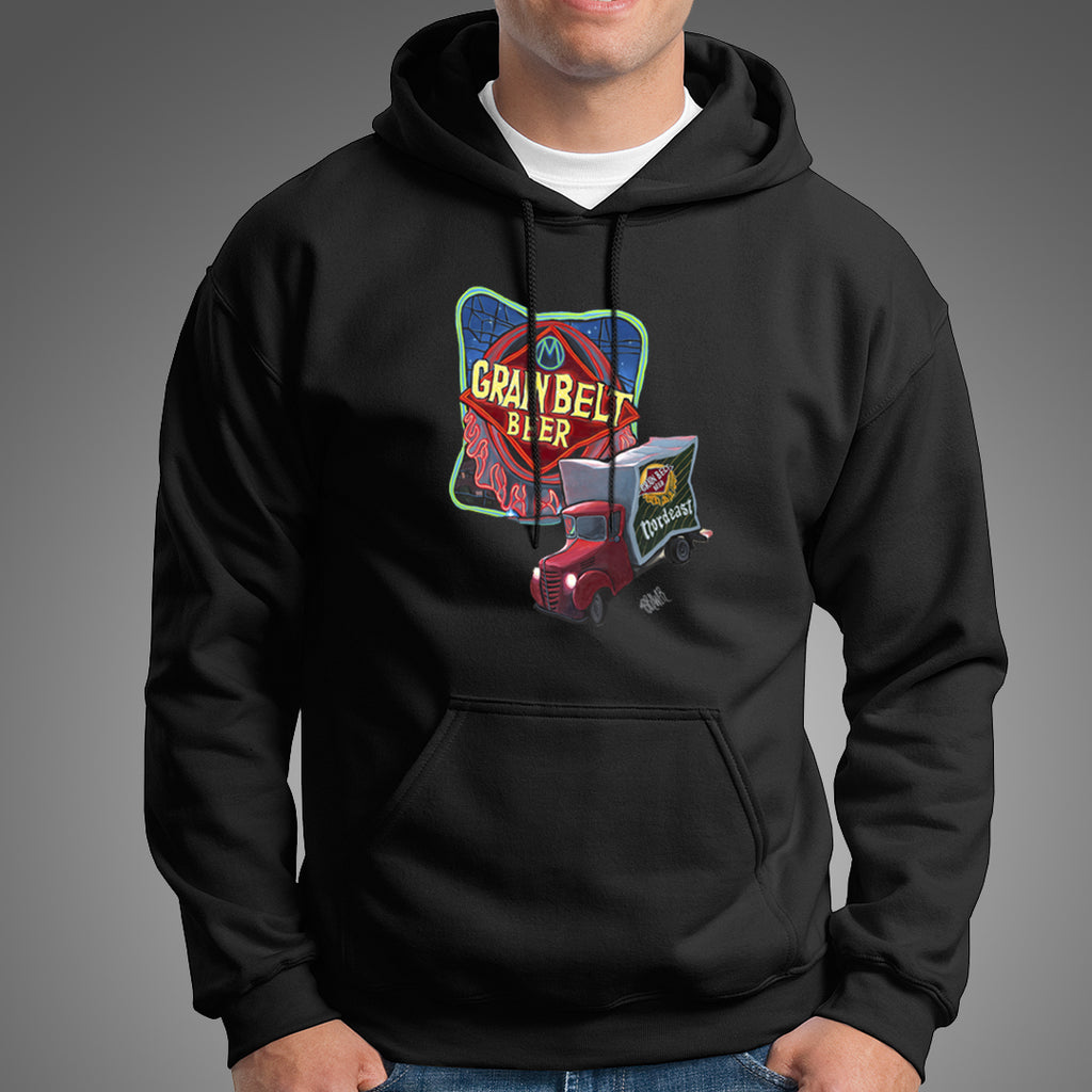 """Grain Belt Beer Sign"" Hoodie"
