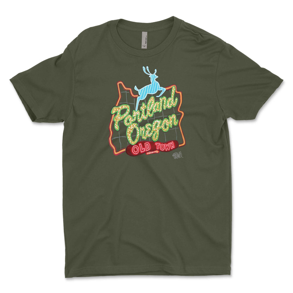 """Downtown Portland"" Unisex T-Shirt"